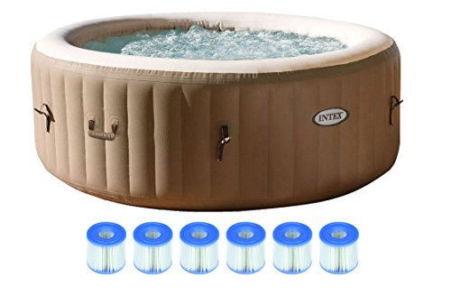 intex pure spa 4 person inflatable portable hot tub with six filter cartridges in the uae see. Black Bedroom Furniture Sets. Home Design Ideas