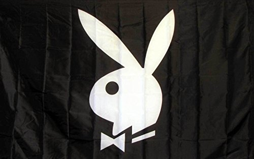 Premium Playboy Bunny Black&White Flag (3 By 5 Foot) - Large Flag (Jones Sweat Light)