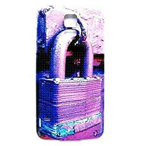 TOPMM Purple Lock Pattern Thin Hard Case Cover for Samsung Galaxy S5 I9600