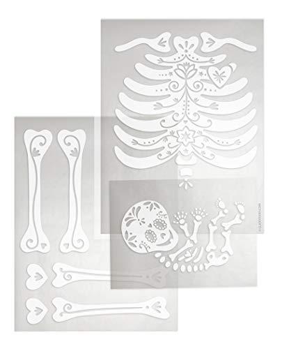 DIY Iron-on Transfer Skeleton: Full Body, Upper Body,