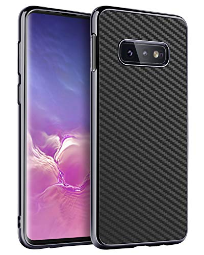 BENTOBEN Case for Galaxy S10e, Slim Lightweight Stylish Rugged Shockproof Impact Resistant Anti-Scratch Carbon Fiber Texture Protective Phone Cover for Samsung Galaxy S10e 2019 5.8 inch - Black