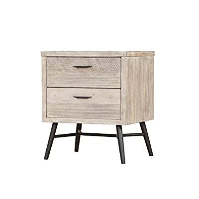 "Artum Hill Laurel Nightstand, 2-drawer, modern gray - The Laurel nightstand is a nod to Palm Springs and Mid Century Modern design, bringing a fresh look to your home Dimensions: 22"" Width, 18"" Depth, and 26"" Height Makes everyday life a little bit easier with features like full-extension ball bearing drawer glides and a USB charging station - nightstands, bedroom-furniture, bedroom - 41wTWO10%2BUL. SS400  -"