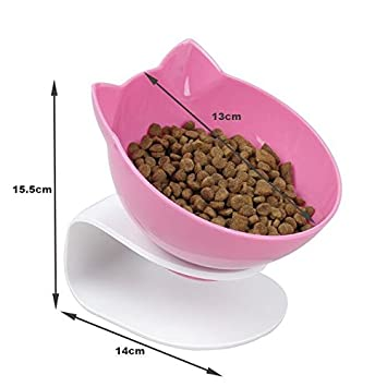 Damncat - Cuenco para Comida de Gato con Soporte Elevado, Ideal para Gatos y Perros pequeños, Color Rosa: Amazon.es: Productos para mascotas
