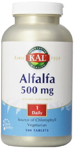 KAL Alfalfa 8 Grain Tablets, 500 mg, 500 Count
