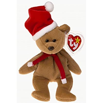 6cd33892d4f Image Unavailable. Image not available for. Color  1997 Holiday Teddy Bear  - MWMT Ty Beanie Babies