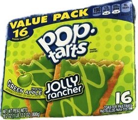 Pop-Tarts Frosted Green Apple Jolly Rancher Toaster Pastries Kellogg's 16 Toaster Pastries Value (Apple Tart)