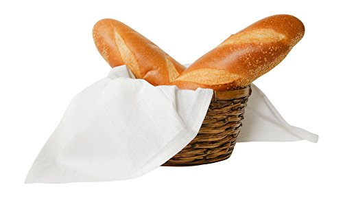 Flour Sack Kitchen Dish Towels 100% Pure Cotton Durable 28X28 Bleached Low Lint Fast Drying Commercial Grade (12) by Nino and Baddow (Image #3)