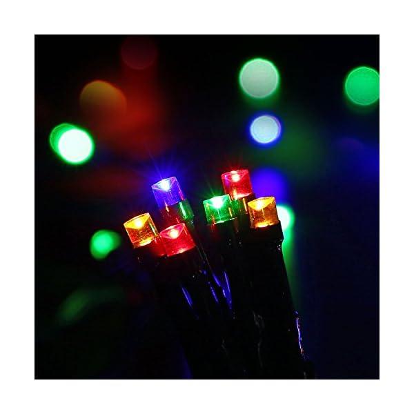 Qedertek Luci Albero di Natale, Catena Luminosa 20M 200 LED, Luci di Natale Esterno ed Interno, Filo verde scuro, Luci Colorate Addobbi Natalizi Esterno, Luci Natalizie da Esterno ed Interno 3 spesavip