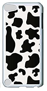 Fashion Customized Case for iPod Touch 5 Generation White Cool Plastic Case Back Cover for iPod Touch 5th with Black Spot