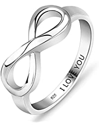 Personalized Infinity Eternity Promise Ring for Her Friendship Gift Endless Love Symbol Engagement Rings