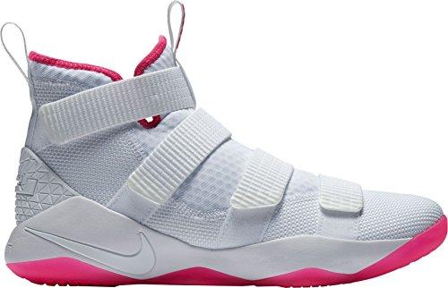NIKE Herren Lebron Soldier Xi Basketballschuh Weiß / Pink-m