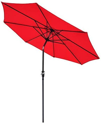 Yeshom 9ft UV 30 Aluminum Outdoor Patio Umbrella