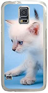 Animals & Birds Cute-Mew-Mew-Cat Cases for Samsung Galaxy S5 I9600 with Transparent Skin