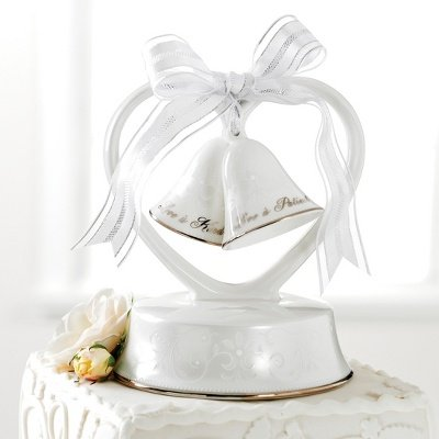 Lenox Opal Innocence Cake Topper Love is Patient