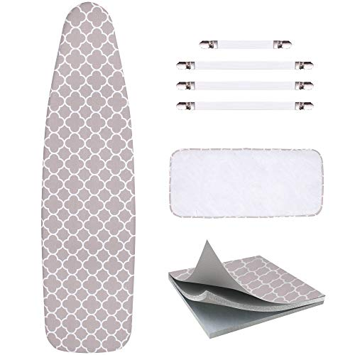 - Sunkloof Scorch Resistance Ironing Board Cover and Pad Resists Scorching and Staining Ironing Board Cover with Elasticized Edges and Pad 15