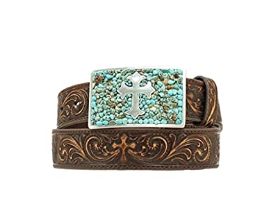 Nocona Women's Rectangular Cross Buckle Belt
