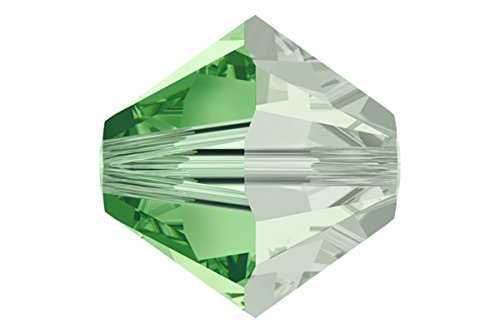 36 pcs Swarovski Crystal Bicone 5301 Bead, Peridot Satin, 6mm