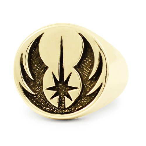 Bronze Jedi Order Insignia Star Wars Ring