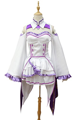 [Cosplay214 Women Starting Life in Another World Emilia Cosplay costume (L)] (Costumes Starting With L)
