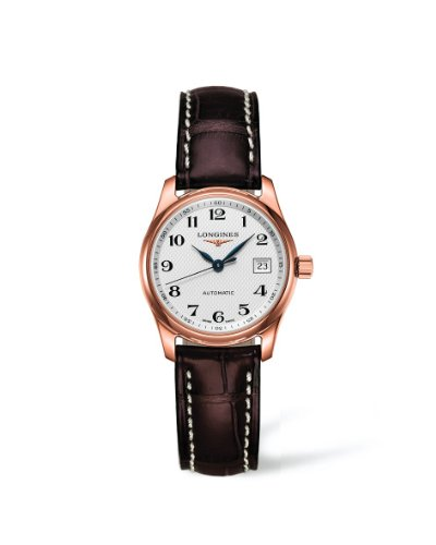 Longines Master Collection L2.257.8.78.3 Automatic 18k Rose Gold Transparent Case Back Women's Watch
