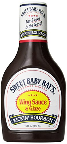 Sweet Baby Ray's, Wing Sauce & Glaze, Kickin' Bourbon, 16oz Bottle (Pack of 3) - Kickin Wing Sauce