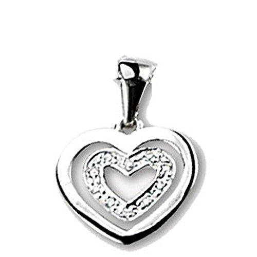 SF Bijoux - Pendentif or gris 750/1000e et diamant (0,42 carat)