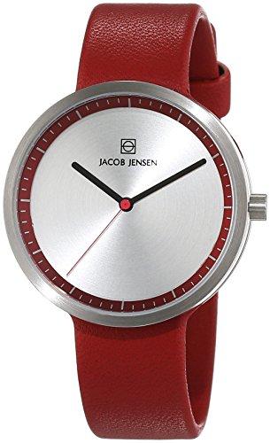 JACOB JENSEN Damen-Armbanduhr STRATA SERIES Analog Quarz Leder 283
