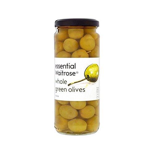 Spanish Whole Green Olives Waitrose 340g - Pack of 6 by Waitrose Spanish