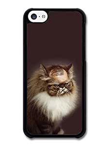 AMAF ? Accessories Bald Grumpy Funny Cat case for iPhone 5C