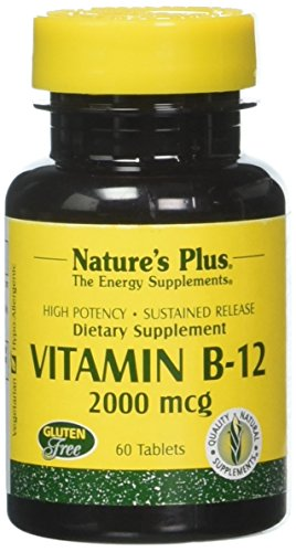 Nature s Plus Vitamin B-12 2000 Mcg 60 Tablets Review
