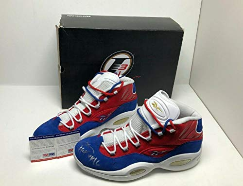 Allen Iverson Signed Reebok Question Mid Basketball Shoes
