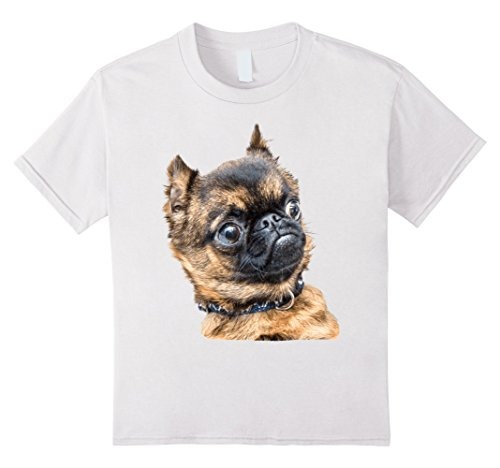 unisex-child Brussels Griffon Shirt 12 White