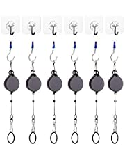 KIWI design VR Cable Managment   Ceiling Suspension System for HTC Vive /Vive Pro Virtual Reality / Oculus Rift / Sony Playstation VR Accessories (6 Packs, Retractable)