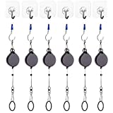 KIWI design VR Cable Managment | Ceiling Suspension System for HTC Vive /Vive Pro Virtual Reality / Oculus Rift / Sony Playstation VR Accessories (6 Packs, Retractable)