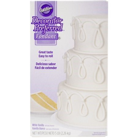 5 X Wilton 710-2300 Decorator Preferred Fondant, 5-Pound, White by Wilton