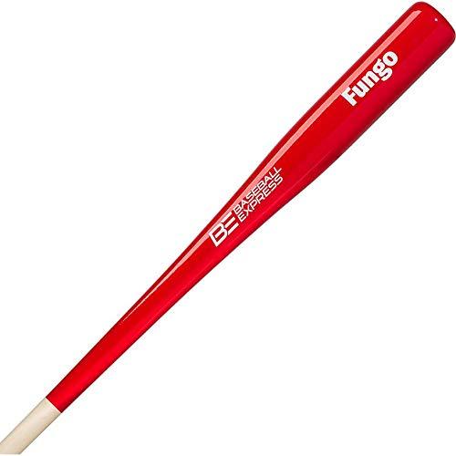 Baseball Express Wood Fungo Bat 36 Red Natural