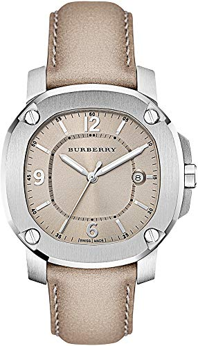 - Swiss the Britain LumiNova BURBERRY Womens Unisex Luxurious Watch Trench Leather Band Nude Date Dial BBY1500