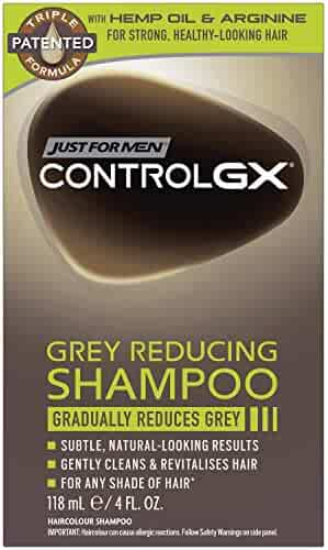 Just For Men Control GX Grey Reducing Shampoo, Gradually Colors Hair, 4 Ounce
