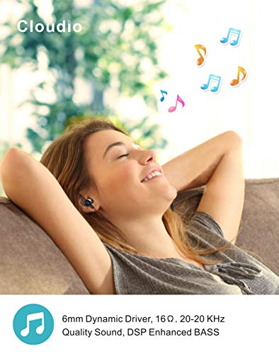 Cloudio S1 Bluetooth Sports in-Ear Headphones Best Wireless Stereo Earbuds Magnet IPX7 Sweatproof Bath Shower Swimming Waterproof Earphones Mic Running Workout 9 Hrs Noise Cancelling Headsets by Cloudio (Image #3)
