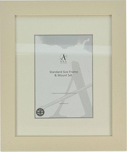 SAA Standard Size Frame & Pastel Gutter Mount - to fit 350 x 250 Pastel Paper - CREAM 35mm FRAME ()