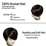 Lumeng Wigs for Men Hair Loss Real Hair Toupee Mono