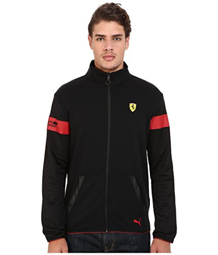 (PUMA Men's Scuderia Ferrari Sweat Jacket, Black, XX-Large)