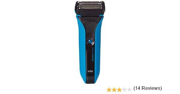Braun WaterFlex WF2s Máquina de afeitar de láminas Recortadora Negro - Afeitadora (Máquina de afeitar de láminas, Negro, LED, Batería, Ión de litio, 1 h): Amazon.es: Salud y cuidado personal