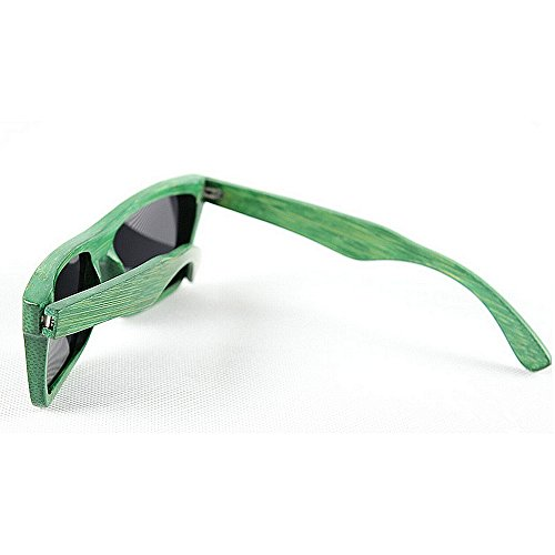 la de sol Gafas sol de unisex polarizadas de de de de mano hombres bambú gafas a de señora Retro de de Verde retro G hechas playa Gafas de sol de sol gafas y sol conducción gafas protección madera los UV de zdwFqzW1