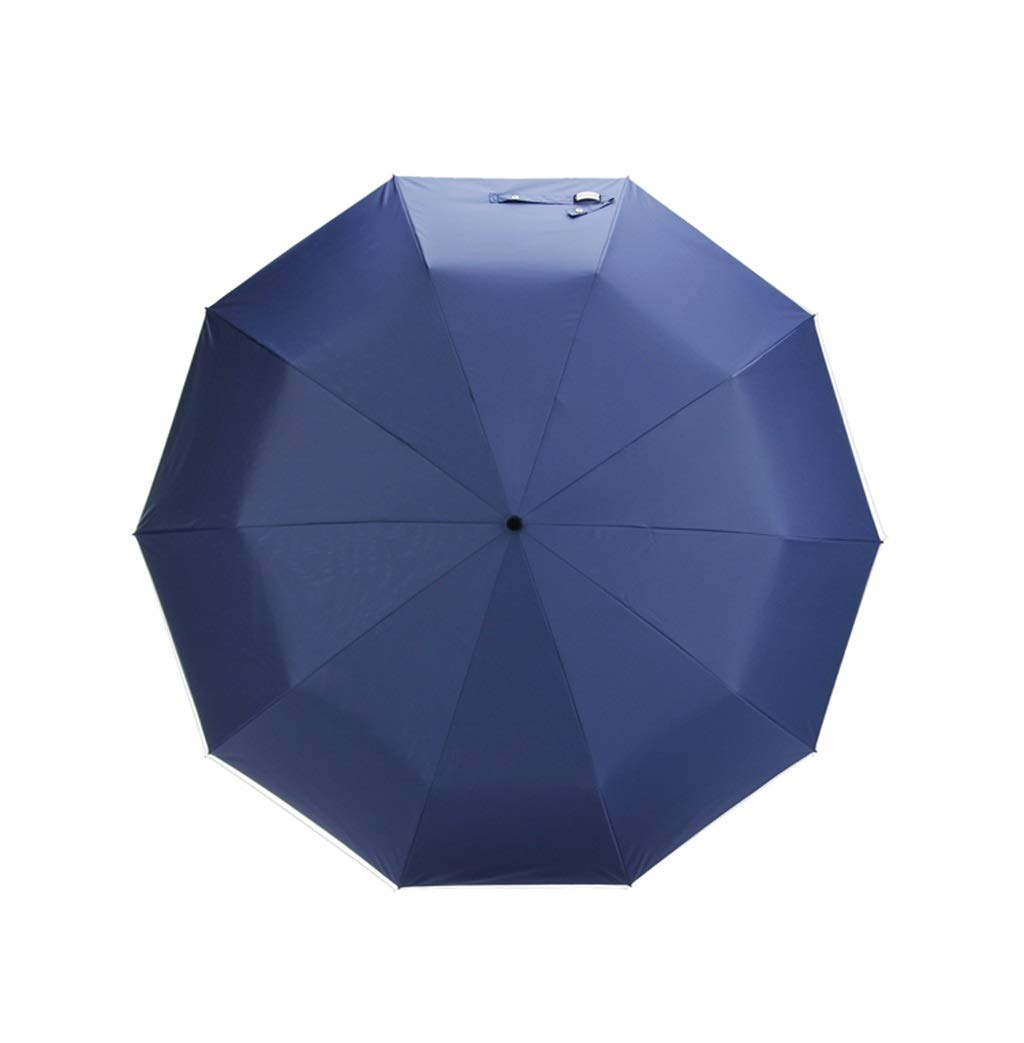 LWT 二重層傘10骨3つ折り自動開閉風に強い日当たりの良いデュアルユース49.2x31.5in (Color : Blue) B07SPBWZW2 Blue