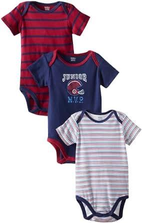 Gerber Baby-Boys Newborn 3 Pack Short Sleeve Onesies Brand Bodysuits, Sports, Newborn
