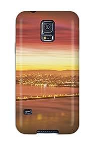 Vicky C. Parker's Shop Best For Galaxy S5 Tpu Phone Case Cover(golden Gate Bridge)