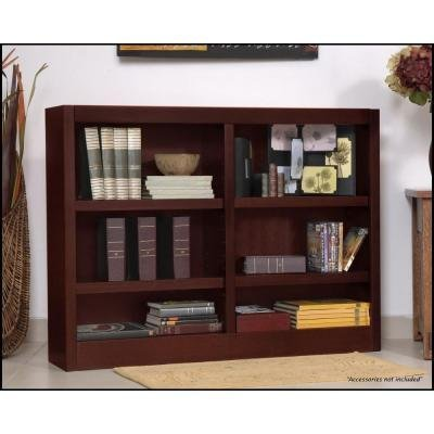 Concepts in Wood Double-wide 6-shelf Bookcase, Cherry