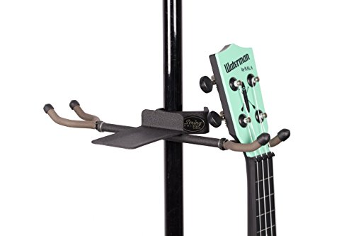 String Swing Mic Stand Twin Ukulele Holder Hang Two Ukuleles or Mandolins from your Mic Stand BCC04TWN-UK