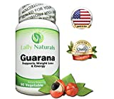 Pure Guarana Seed Extract 1000 mg - Amazon Rainforest Increases Stamina Natural Caffeine Helps You Stay Alert - Slow Release Caffeine Pills Weight Loss - 90 Vegetable Tablets